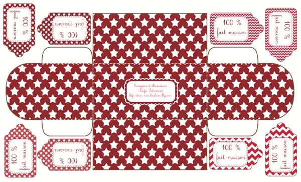 Modele de boite cadeau maison confiblog - Patron de maison en papier a imprimer ...