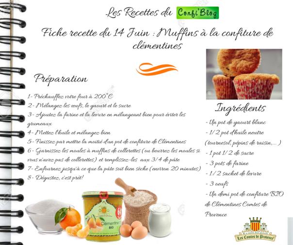 Fiche recette du 14 Juin - Le cake à la confiture de clémentines