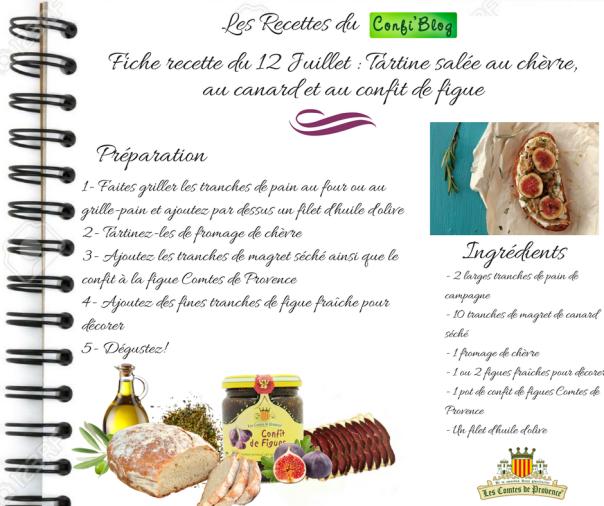 Fiche recette du 12 Juillet - Tartine salée au chèvre,au canard et au confit de figue.png